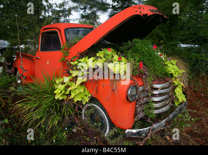 Chevy Mount Pleasant Sc >> GMC pick up truck vintage green pick up truck Stock Photo, Royalty Free Image: 66432509 - Alamy