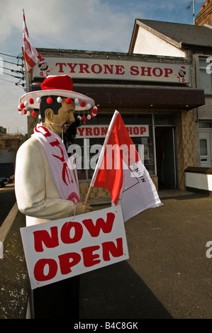 Tyrone Shop - shop selling memorabelia for the County Tyrone Gaelic Football team. - Stock Photo