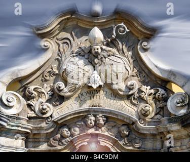 DE - LOWER BAVARIA: Entrance Detail of St. Michael's Church at Metten Monastery Stock Photo