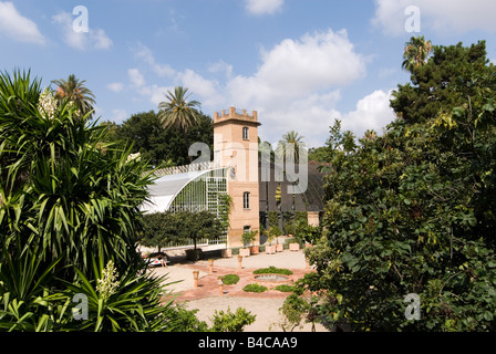 Greenhouse in the Botanical Gardens or Botanic Jardi in Valencia Spain