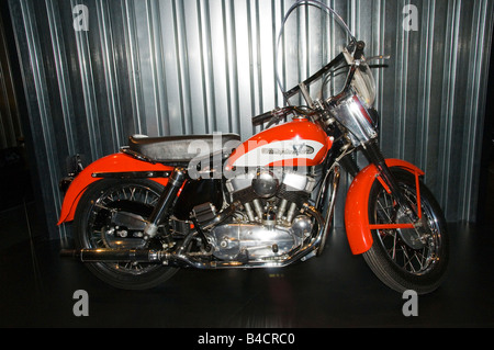 Elvis Presley Harley-Davidson Replica 1956 KH on display at the companies new museum in Milwaukee, Wisconsin,USA - Stock Photo