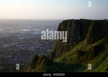 View from top of Cave Hill overlooking Belfast belfast northern ireland uk - Stock Photo