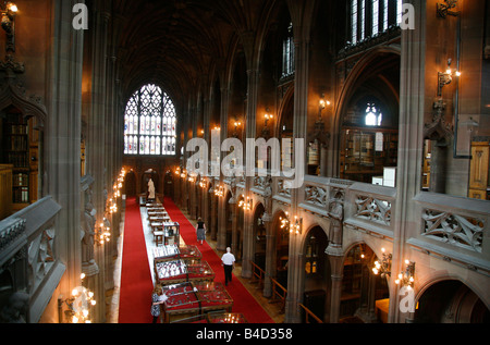 Aug 2008 - John Rylands Library Manchester England UK - Stock Photo