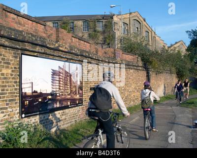 Cyclists near King's Place arts centre near King's Cross,St.Pancras Eurostar International, London Photo © Julio - Stock Photo
