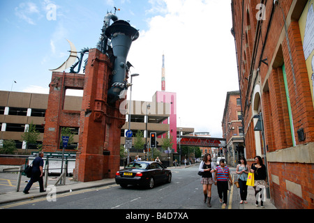 Aug 2008 - The Horn Affleck s Palace in the Northern Quarter Manchester England UK - Stock Photo