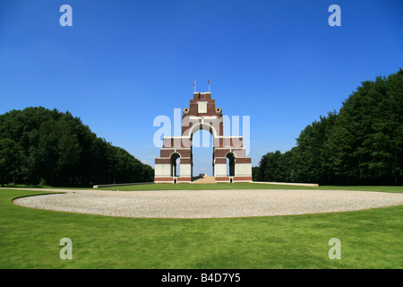 The Thiepval Memorial designed by Sir Edwin Lutyens, viewed looking west, the Somme, France. - Stock Photo