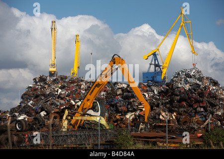 scrap metal recycling facilty belfast harbour belfast northern ireland uk - Stock Photo
