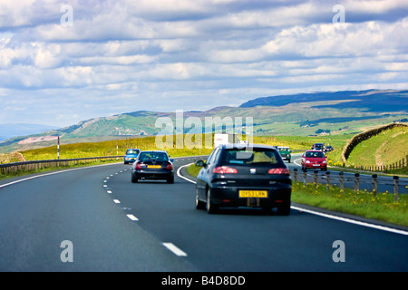 cars driving on the a66 dual carriageway route across the pennines stock photo royalty free. Black Bedroom Furniture Sets. Home Design Ideas