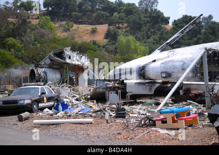 Plane crash - Universal Studios - Stock Photo