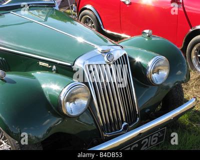 british racing green MG classic car - Stock Photo