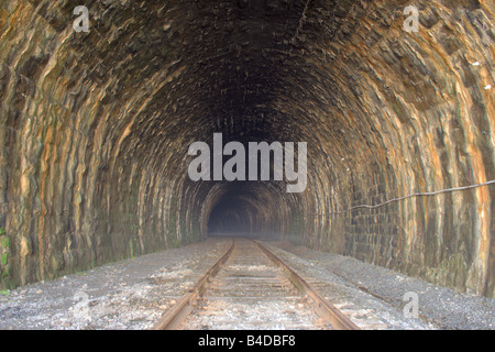 Fine railroad tunnel of the Circum Baikal Road - Stock Photo