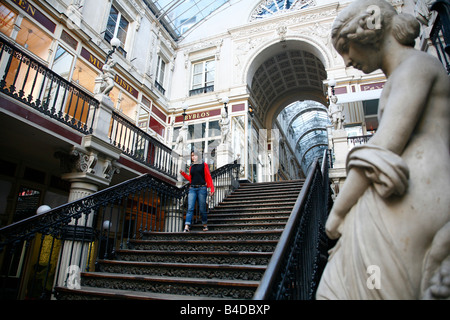 July 2008 - Passage Pommeraye shopping arcade from the 19th century Nantes Brittany France - Stock Photo