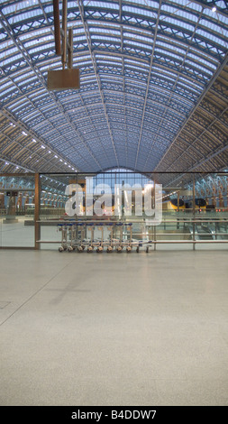 St Pancras International station in London. - Stock Photo