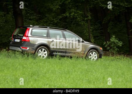 side view  volvo xc   wheel drive station wagon parked  stock photo  alamy