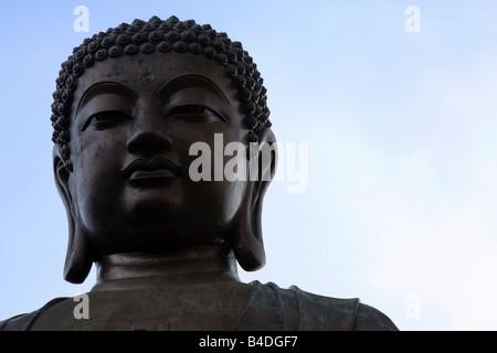 Tian Tan Buddha (Big Buddha), Ngong Ping, Lantau Island, Hong Kong - Stock Photo