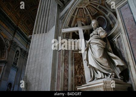 Michelangelo's Pieta in St Peter's Basilica Rome Italy - Stock Photo