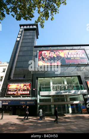 The Odeon Cinema in Leicester Square UK movie film premiere destination theatre district area West End London England - Stock Photo