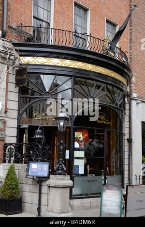 The Champagne Bar in Dawson street Dublin Ireland - Stock Photo