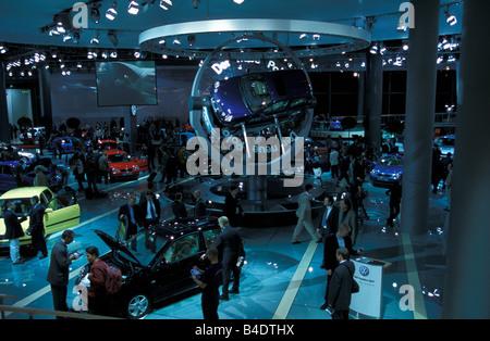 Car, IAA 1999, Frankfurt, Exhibition VW Volkswagen Volkswagen, presentation of the new polo - Stock Photo