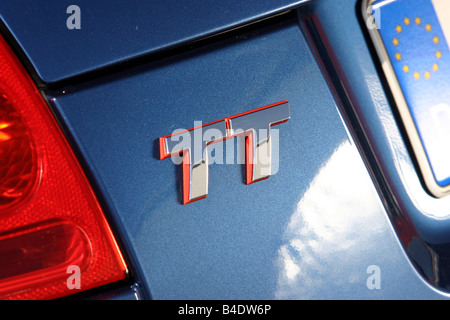 Car, Audi TT 3.2, coupe, roadster, model year 2003-, blue, Detailed view, Model designation - Stock Photo