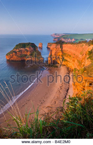 Ladram Bay, near Sidmouth, East Devon, South West England. - Stock Photo