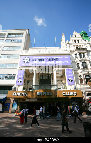 The Empire Cinema and Casino in Leicester Square entertainment theatre district area West End London England UK - Stock Photo