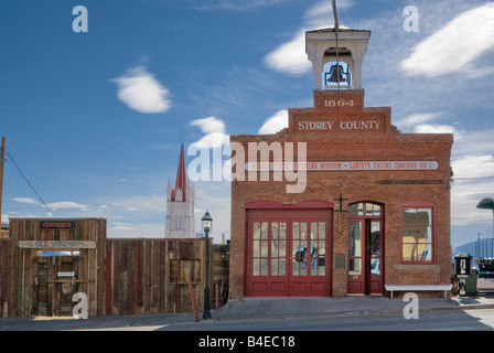 Firemens Museum at C Street in Virginia City Nevada USA - Stock Photo