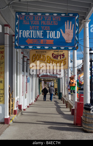 Boardwalk at historic C Street in Virginia City Nevada USA - Stock Photo