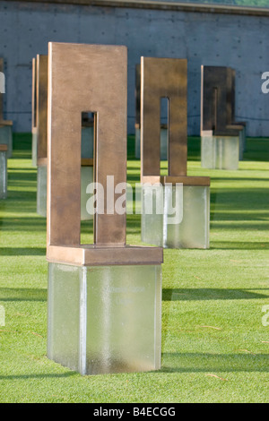 Oklahoma City, Oklahoma, USA. OKC National Memorial Chairs. - Stock Photo