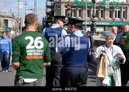 Irish fishermen demonstration anti european quotas Dublin Ireland - Stock Photo