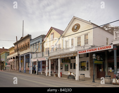 Mark Twain Casino at C Street in Virginia City Nevada USA - Stock Photo