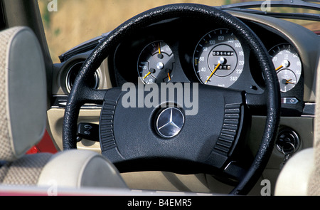car mercedes benz 350 sl r 107 convertible model year 1978 red stock photo royalty free. Black Bedroom Furniture Sets. Home Design Ideas