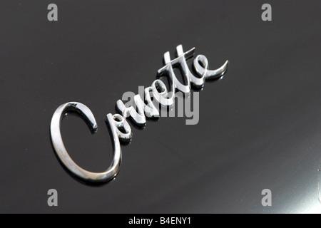 Car, Chevrolet Corvette Mako Shark, model year 1961, convertible, vintage car, 1960s, sixties, detail, details, - Stock Photo