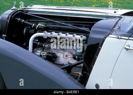 Audi 225 convertible, model year 1933-1938, grey, engine compartment, engine , technics, technical, technically, - Stock Photo