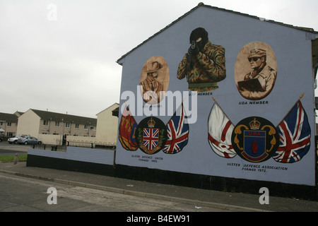 Loyalist mural in Belfast, Northern Ireland, UK. - Stock Photo