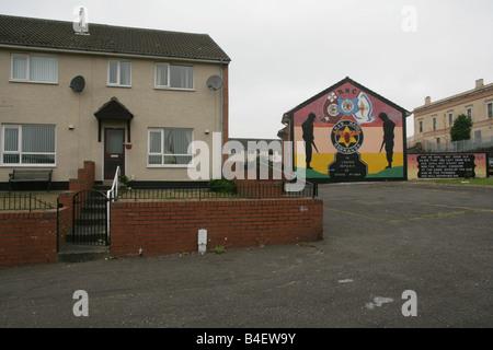 Loyalist mural commemorating Stevie McCrea in Belfast, Northern Ireland, UK - Stock Photo