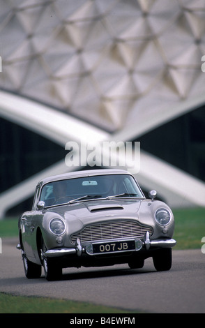 Aston Martin DB5 2017, model year 1963-1965, known from the James Bond Movie Goldfinger - Stock Photo