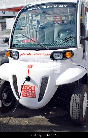 Paris France Paris Car Show Microcar Vipa Automatic Electric