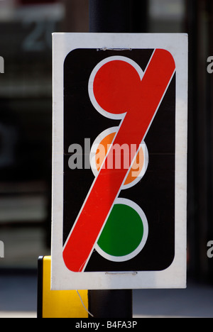 ... Traffic Lights Out Of Order Sign   Stock Photo