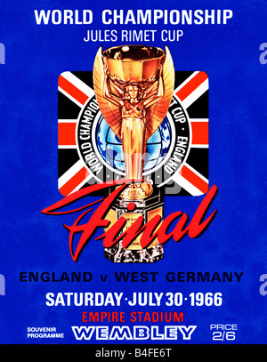 World Cup Final programme for the England v West Germany final at Wembley in July 1966 won 4 2 by the hosts - Stock Photo