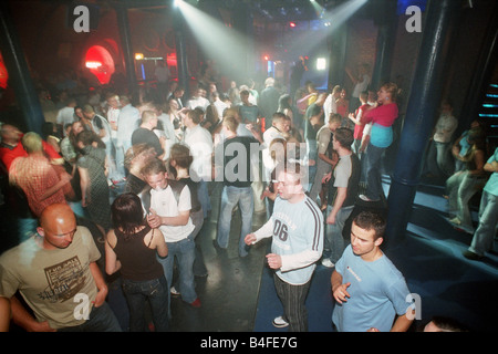 Crowded dance floor in the club –Lodz Kaliska- in Lodz, Poland - Stock Photo