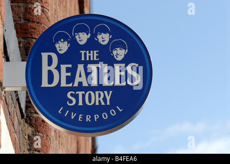 The beatles Story Albert Dock Liverpool museum - Stock Photo