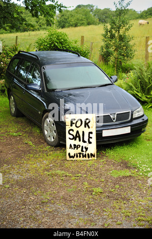 Second-hand car for sale - Stock Photo