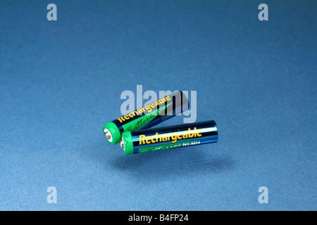 Generic rechargable NiMH batteries - Stock Photo