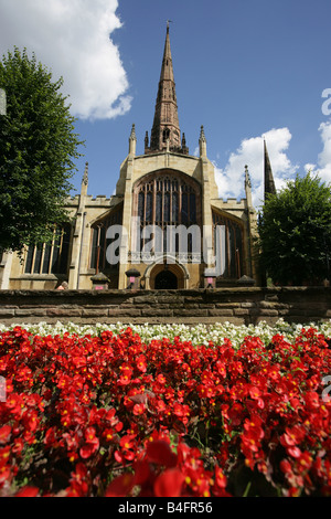 City of Coventry, England. Main entrance to Coventry's city centre based Church of England Holy Trinity Church, - Stock Photo