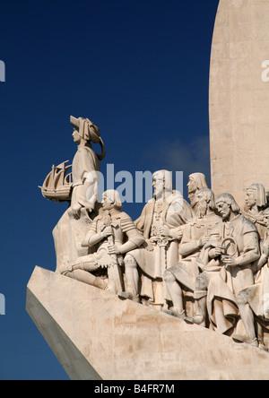 Discoveries Monument Padrao dos descobrimentos in Belem - Stock Photo