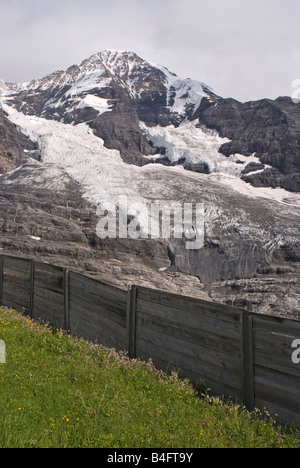 Jungfraujoch glacier Bernese Canton Switzerland - Stock Photo