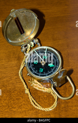 Antique Brass Compass - Stock Photo