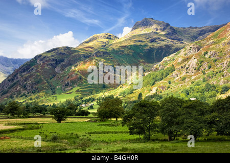 Langdale Pikes in the Langdale Valley, English Lake District National Park, Cumbria, England, UK