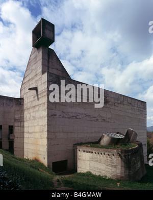 Eveux, Lyon, Kloster La Tourette, Le Corbusier, 1959 - Stock Photo